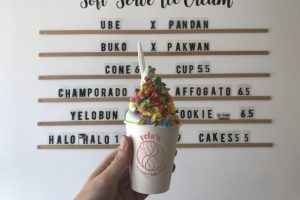 Ice Cream with sprinkles from Yelod Ice Cream and Bake Shoppe.