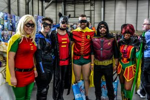 People in cosplay at Edmonton Comic and Entertainment Expo