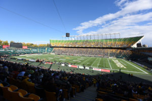 The interior of Commonwealth Stadium in Edmonton.