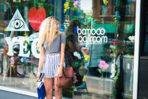 A woman shops at Bamboo Ballroom