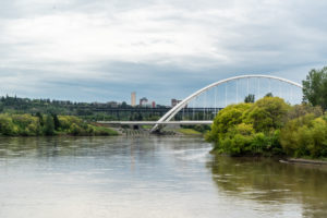 A view of the Walterdale Bridge.
