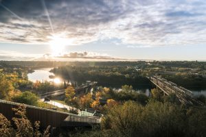 Edmonton's river valley.