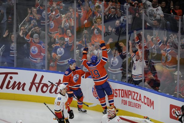 an Oilers hockey game at Rogers Place