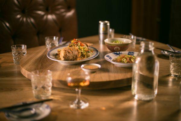 A meal and cocktails at Baijiu.