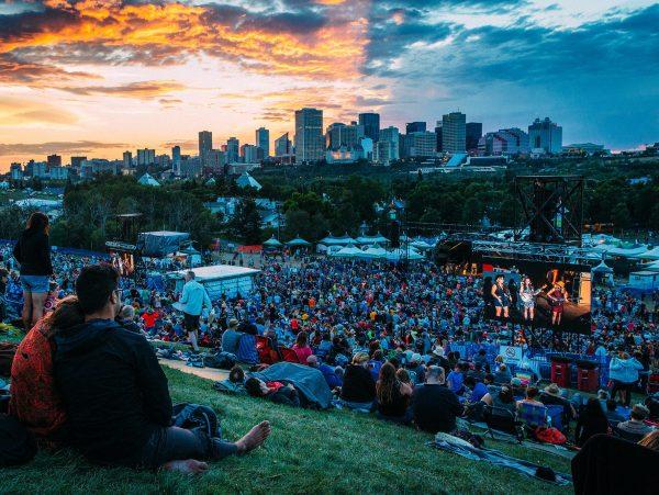 Edmonton Folk Festival Couple Watching Shows