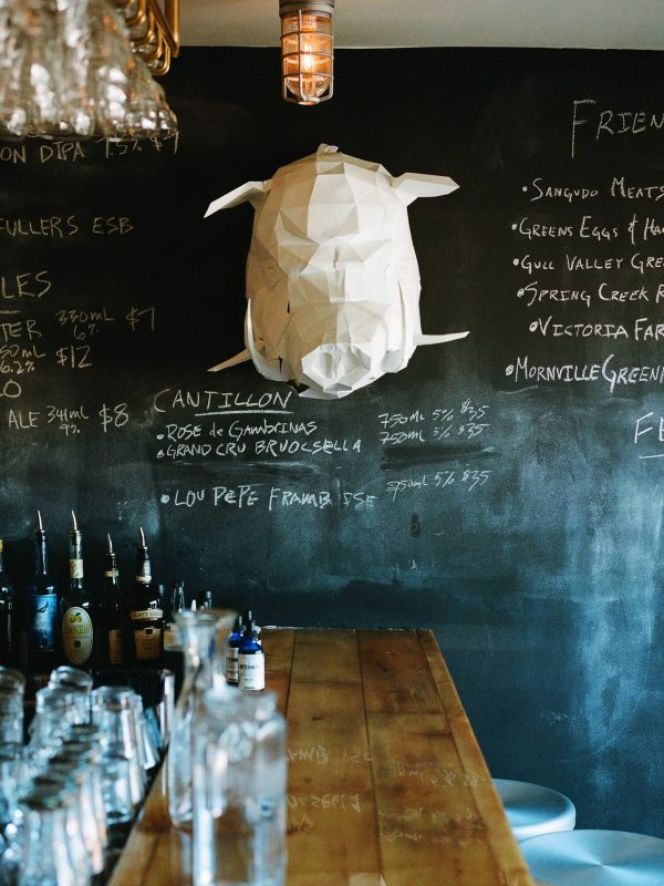 the bar at Three Boars