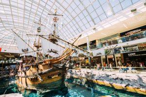 the Santa Maria pirate ship at West Edmonton Mall.
