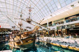 the Santa Maria pirate ship at West Edmonton Mall.