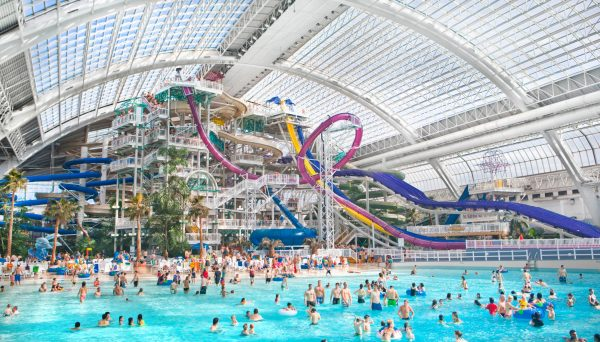 The waterslides at the World Waterpark in Edmonton