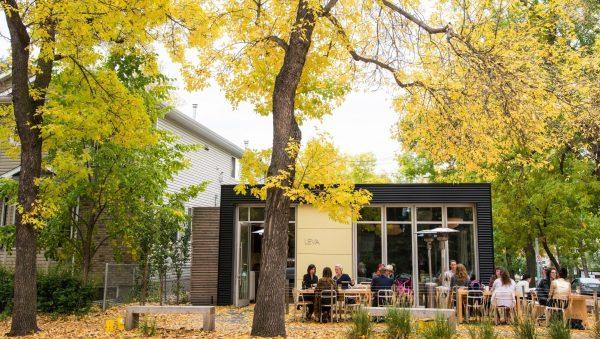 Autumn exterior image of Cafe Leva